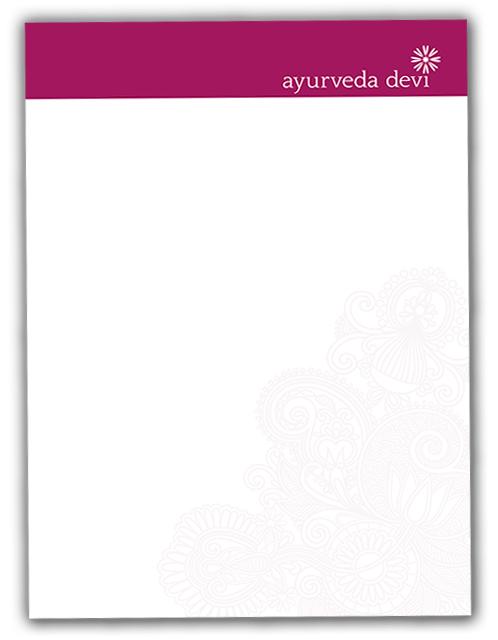 Gestaltung Briefpapier Ayurveda Therapie Alexandra Della