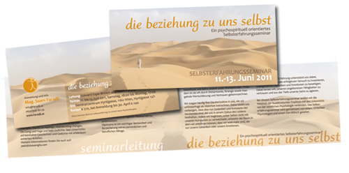 Flyer Beziehungen emotionalwork by alexandra della toffola | grafiker/in in Wie