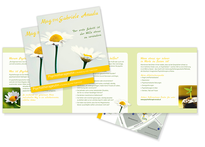 Grafikdesign folderdesign psychotherapie kinder for Raumgestaltung psychologie