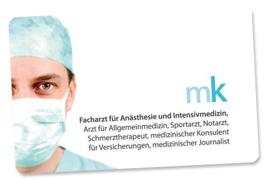 Grafikdesign Visitenkarten Arzt Alexandra Della Toffola