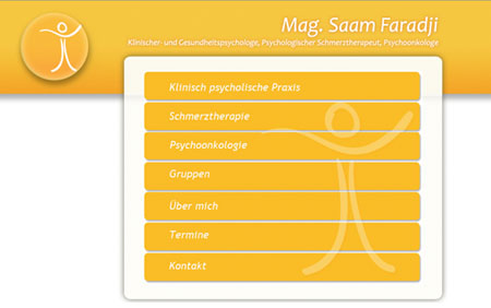 Webdesign Homepage Psychologische Praxis